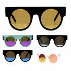 SA106 Revo Mirror Retro Thick Plastic Round Circle Lens Hippie Sunglasses