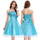 Bridesmaids Spaghetti Straps Ball Cocktail Evening Prom Party Dress Short Bow
