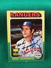 MIKE HARGROVE signed 1975 Topps TEXAS RANGERS Card #106