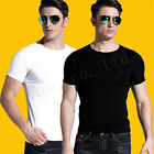 Men's  Summer Multicolor Cotton Lycra O-neck All-match Slim T-shirts