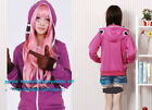 Purple Vocaloid Matryoshka miku Len Rin Gumi Cosplay Hooded Costume coat Jacket
