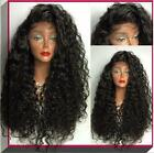 Brazilian loose wavy full/front Lace Wig remy women's human hair lace wig glue