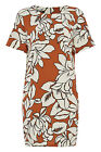 Roman Originals Women's Oversized T-shirt Style Dress Orange Sizes 10-20