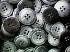 20mm 32L Charcoal & Light Grey Brush Patterned 4 Hole Quality Buttons (W150)