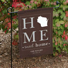 """""""Home Sweet Home"""" State Love Personalized Garden Flag - 50 States Custom Design"""