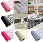 Romantic Sheer Roll Wedding Chair Sash Table Runner Swag Party Wedding Decor S