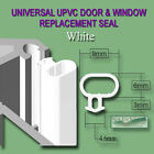 Universal White Seal Upvc Door Window Draught Excluder Replacement Rubber Gasket