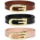 New Genuine Leather Skinny  Ladies Leather Designer Belt  Black Brown and Beige