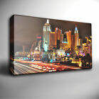LAS VEGAS CITY SKYLINE NIGHT - Canvas Art Picture *Choose your size