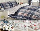 Quilt Duvet Cover & Pillowcase & Fitted Sheets & Curtains Bedding Bed Set Bundle
