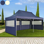 Garden Pavilion Gazebo Marquee Tent Canopy Party Shelter Adjustable Height 3x6m