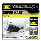 SC724 OMP SUPER KART KARTING HELMET OPTIONAL EXTRA VISORS & ACCESSORIES BY OMP