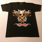 Quality T.Shirt With SKULL Color In Front Black White At Back Size S M XL XXL
