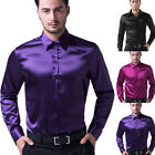 Luxury Smart Mens Casual Long Sleeve Dress Shirts Business Wedding Party Shirts