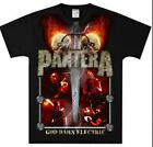 New: PANTERA - God Damn Electric (Black) Metal Concert T-Shirt