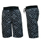 Men's Paisley Elastic Waist w/Drawcode Cargo Shorts with 6 Pockets Activewear