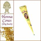 45g Jumbo Cones. 100% Pure Henna (Heena) Tattoo Paste. No Chemicals No PPD.