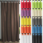 Blackout Curtain Opaque with Loops Living Room Thermal Lined Light Reducing