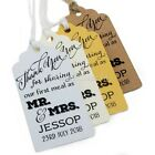 Personalised Sharing Our First Meal as MR & MRS Wedding Favour Tags