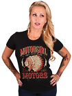 AMERICAN INDIAN CHIEF FEATHERS AZTEC MOTORCYCLES PUNK ROCK CHICK 8 10 12 14