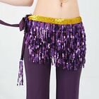 Plus Size Belly Dance 3 layers Tassels Hip Scarf fringe Wrap Hawaiian Hula Skirt