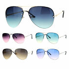 Mens Oceanic Gradient Lens Rimless Aviator Sunglasses