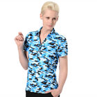 Monterey Club Ladies Dry Swing Abstract Print Jersey Golf Polo Shirt #2599