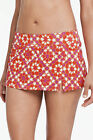 Lands' End Swim Deep PinkWhite Mosaic Tummy Control Swim Skirt New