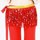 Belly Dance 3 layers Tassels HipScarf fringe Wrap Hawaiian Hula Skirt Plus Size