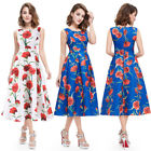 Ever Pretty Women's Simple Floral Fashion Round Neck Short Casual Dress 05443