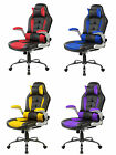 High-back Computer Desk Vintage Heavy Duty Gaming Reclining Task Office Chair