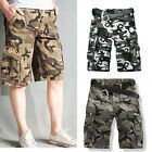 Men's Camo Cargo Shorts Military Army Camouflage loose Short Pants Casual NEW