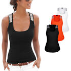 Sexy Ladies Sequin Sleeveless Suppler Blouse Casual Tank T-Shirt Vest Top