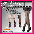 New Cuban heel seamed seamer tights pantyhose from the Silky Scarlet range