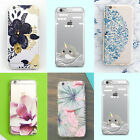 Luxury Colorful Transparent Hard Back Pattern Case Cover For iPhone6/6 Plus