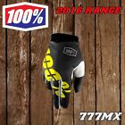 2016 100% iTRACK YOUTH MX ENDURO GLOVES - BLACK YELLOW *IN STOCK* SMALL