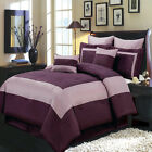 Purple 12-Piece Luxury Comforter Set - 100% Polyester