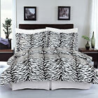 Luxury Zebra Print Pattern Egyptian Cotton Duvet Cover with Shams