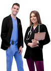 Внешний вид - Adar Men Doctor Workwear Uniform Multiple Pockets Classic Consultation Coat