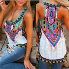 Stylish Lady Women Print Vest Sleeveless Shirt Blouse Casual Tank Tops T-Shirt S