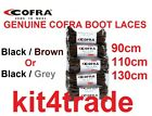 COFRA Safety Boot Laces -Choose Your Colour & Length - Vat Receipt - FREE POST