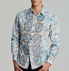 Robert Graham Limited Edition Grand Master Shirt Swarovski Crystal Buttons M NWT