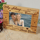 Personalized Why I Love You Wood Picture Frame Valentine's Day Anniversary GIFT