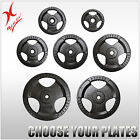TOTAL 60KG CAST IRON WEIGHT PLATE SET - TRIPLE HANDLE EZ GRIP WEIGHT PLATES