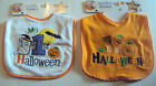 Tender Kisses Baby's My First Halloween White or Orange Bib Embroidery Detail