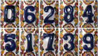 Внешний вид - Mexican Tile Talavera Ceramic House Numbers Tile BLUE