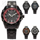 AgentX Quartz Mens Sport Wrist Stainless Steel Date Day Indicator Watch + Box