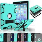 Military Shockproof Heavy Duty Rubber With Hard Stand Case Cover For iPad 2 3 4