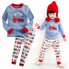 "Vaenait Baby Toddler Kids Boy Sleepwear Pajama Set ""T.Toot train"" 12M-12Y"