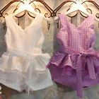 New Fashion Toddler Baby Girls Dress Set Outfits 2PCS Top+Pants+Belt Clothing